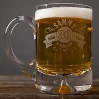 Image of Engraved Tankard - 30th Aged To Perfection