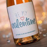 Luxury Personalised Rosé Champagne - Be My Valentine