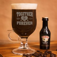 Personalised Irish Coffee Glass With Baileys Miniature - Together Forever - Baileys Gifts