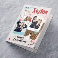 Multi Photo Upload Christmas Card - Special Sister - Sister Gifts