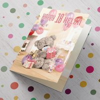 Personalised Me To You Card - 18th Stack of Presents - 18th Gifts