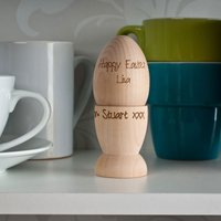 Personalised Wooden Egg and Egg Cup - Cup Gifts