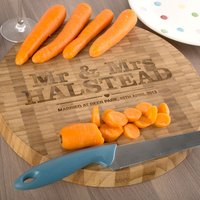 Personalised Large Round Bamboo Chopping Board - Chopping Board Gifts