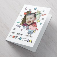 Photo Upload Card - He's Off To School - School Gifts