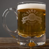 Engraved Tankard - 40th Aged To Perfection - 40th Gifts