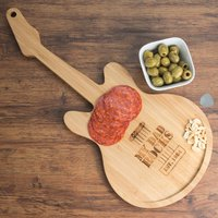 Personalised Guitar Chopping Board - My Dad Rocks - Guitar Gifts