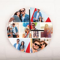 Photo Upload Clock - 7 Photos - Photos Gifts