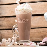Engraved Glass Latte Mug - Sister Balloons - Sister Gifts