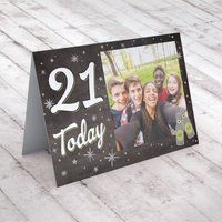 Photo Upload Any Age Birthday Card - Beer & Stars - Beer Gifts