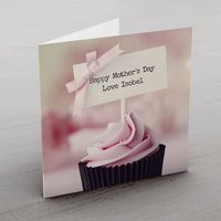 Personalised Card - Pink Cupcake - Cupcake Gifts