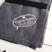 Personalised Luxury Blanket - Hugging Mummy - Blanket Gifts