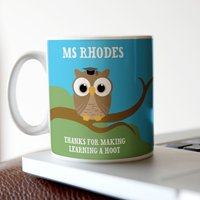 Personalised Mug - Teacher's Owls - Cutlery Gifts