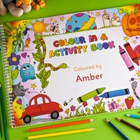 Personalised A3 Colour In Activity Book - Colour Gifts