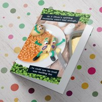 Personalised Violent Veg Card - Splitting Headache - Getting Personal Gifts