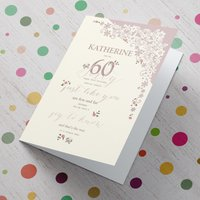 Personalised 60th Birthday Card - You're A Joy To Know - 60th Birthday Gifts