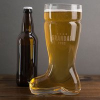 Personalised Beer Boot Glass - Four Stars - Beer Gifts