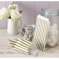 Vintage Lace - Ivory & Gold Candy Bags (Pack Of 25) - Ivory Gifts