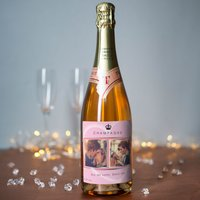 Photo Upload Rosé Champagne - Crown, 2 Photos & Message - Photos Gifts