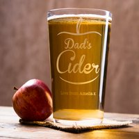 Personalised Pint Glass - Dad's Cider - Cider Gifts