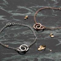 Personalised Posh Totty Designs Double Hoop Names Bracelet - Posh Gifts