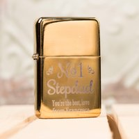 Engraved Gold Lighter - No1 Stepdad - Lighter Gifts