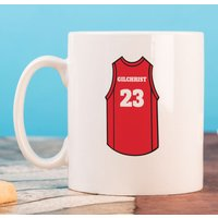 Personalised Mug - Basketball Vest - Basketball Gifts