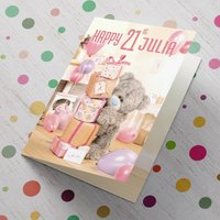 Personalised Me To You Card - 21 Stack Of Presents - Presents Gifts