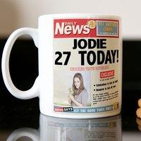 Photo Upload Mug - Birthday News - News Gifts