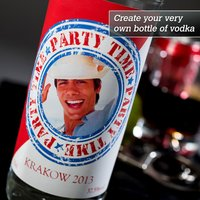 Photo Upload Vodka - Party Time - Vodka Gifts