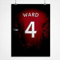 Personalised Football Star Print - Football Gifts