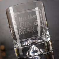Personalised Stern Gin Glass With Miniature - Gin & Bear It - Gin Gifts