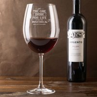 Engraved Giant Wine Glass - Just The One Drink - Wine Glass Gifts