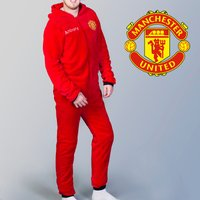 Personalised Adult Manchester United Onesie - Manchester United Gifts