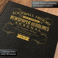 Personalised Arsenal Football Book - Football Gifts