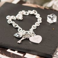 Engraved Charm Bracelet - Any Name - Charm Gifts