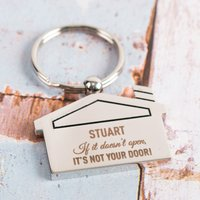 Personalised House Key Ring - If It Doesn't Open - Key Ring Gifts