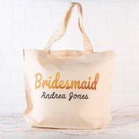 Personalised Tote Bag - Bridesmaid - Bridesmaid Gifts
