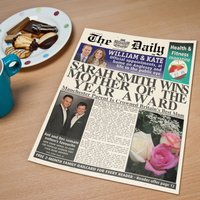 Personalised Spoof Newspaper Article - Mother of the Year - Newspaper Gifts