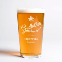 Personalised Pint Glass - Godfather