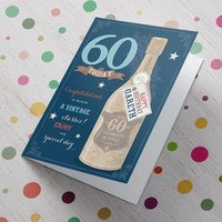 Personalised Card - 60 Today - A Vintage Classic - 60th Birthday Gifts