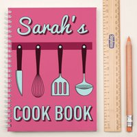 Personalised Notebook - Cooking Utensils - Cooking Gifts