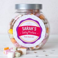 Personalised Dolly Mixture Jar - Spotty Crown - Spotty Gifts