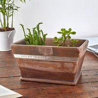 Personalised Wood Pot Planter - Wood Gifts