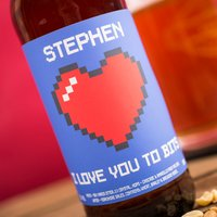 Personalised Beer - I Love You To Bits - Beer Gifts