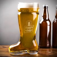 Personalised Beer Boot Glass - My Dad, My Hero - Beer Gifts