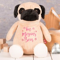 Personalised Cubbies Pug Soft Toy - Pug Gifts