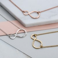 Personalised Posh Totty Designs Mummy & Baby Infinity Necklace - Posh Gifts