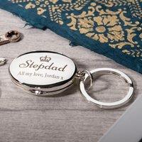 Engraved Photo Key Ring - Stepdad - Key Ring Gifts