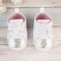 Personalised Baby Shoes - Sequin Heart