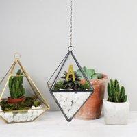 Personalised Lisa Angel Black Hanging Terrarium - Angel Gifts